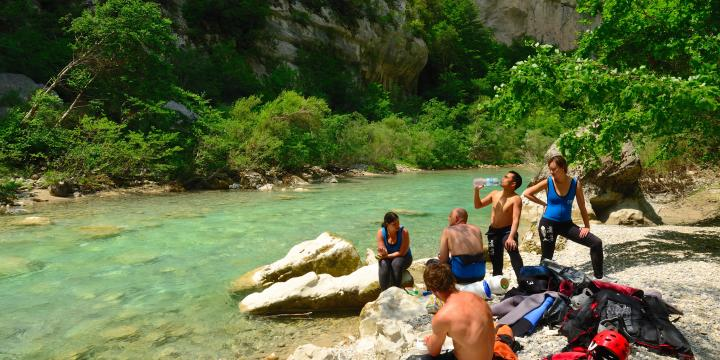 Buena Vista Rafting review. L'Imbut by swim by Sabrina