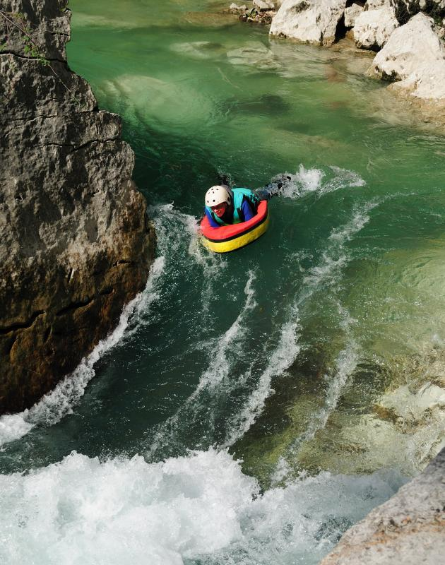 Hydrospeed Or White Water Swimming In The Gorges Du Verdon